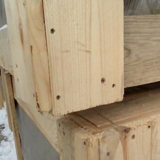 Деревянный короб для сэндвич-панелей