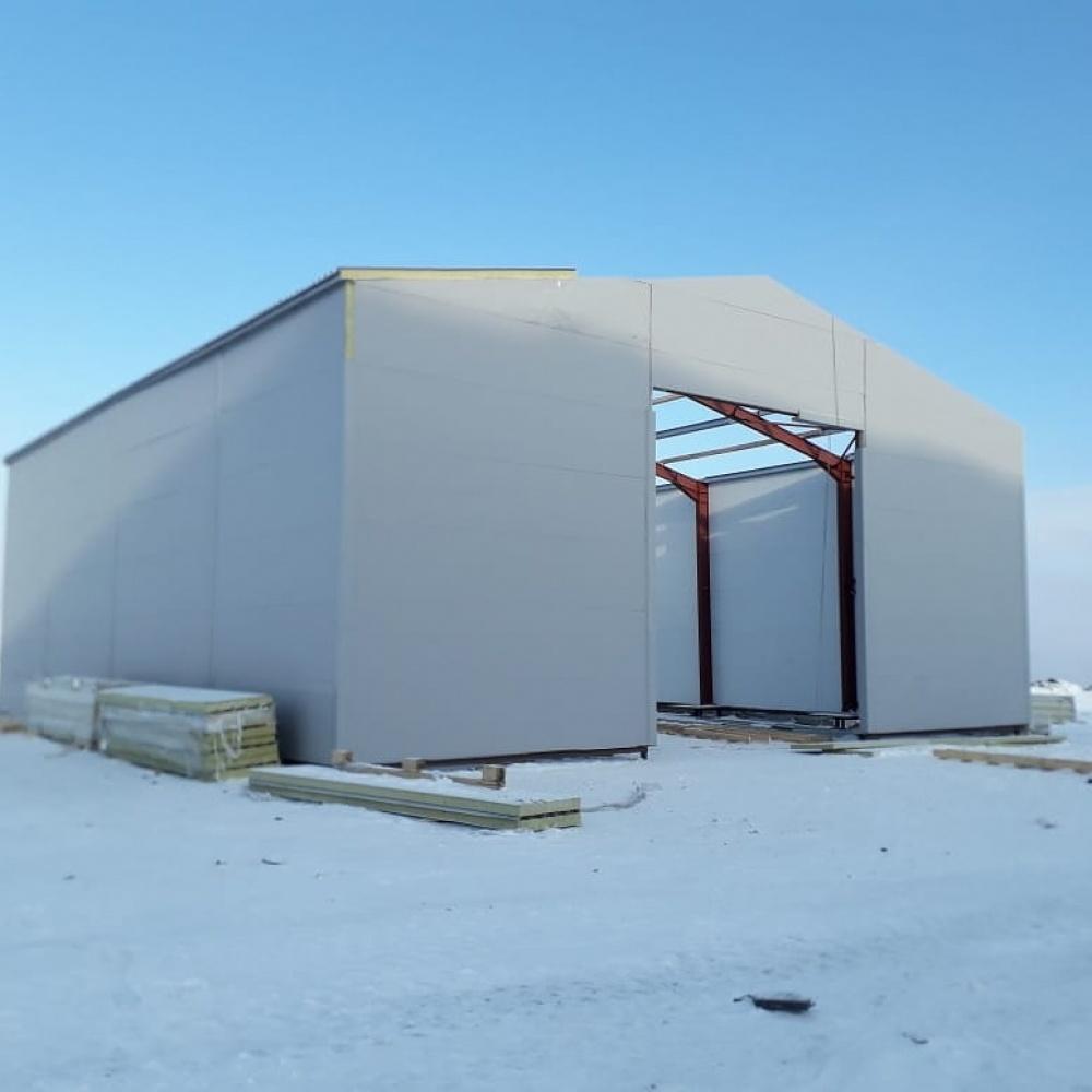 Холодный склад из металлоконструкций