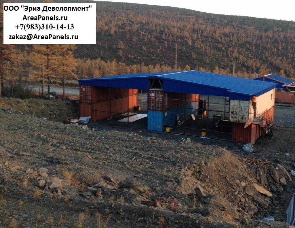 Здание из контейнеров Магадан