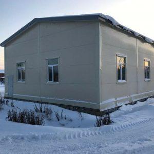 Утепленное здание из металлоконструкции