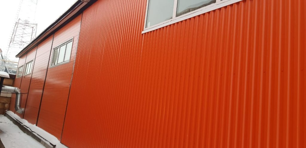 Ангар из металлоконструкции, быстровозводимое здание