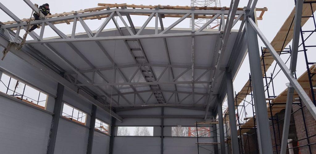 Быстровозводимое здание из металлоконструкций, ангар из металлоконструкции